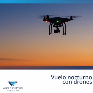 Vuelo nocturno drones