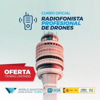Oferta Curso Radiofonista Profesional de Drones