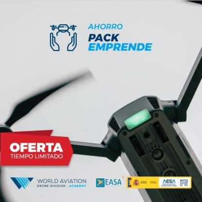 Oferta Pack Emprende Drones Curso Compleot Radiofonista y alta Operadora