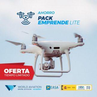 Oferta Pack Emprende Lite Drones Curso Compleot Radiofonista y alta Operadora